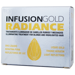TAHE KERATIN Infusion gold radiance so zlatom a keratínom (2x10 ml)
